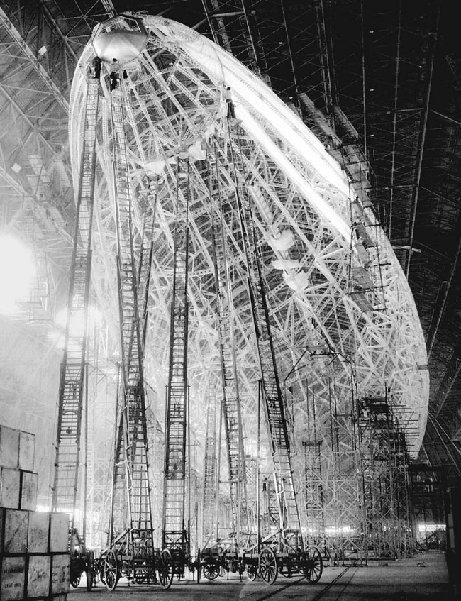 The USS Macon Airship