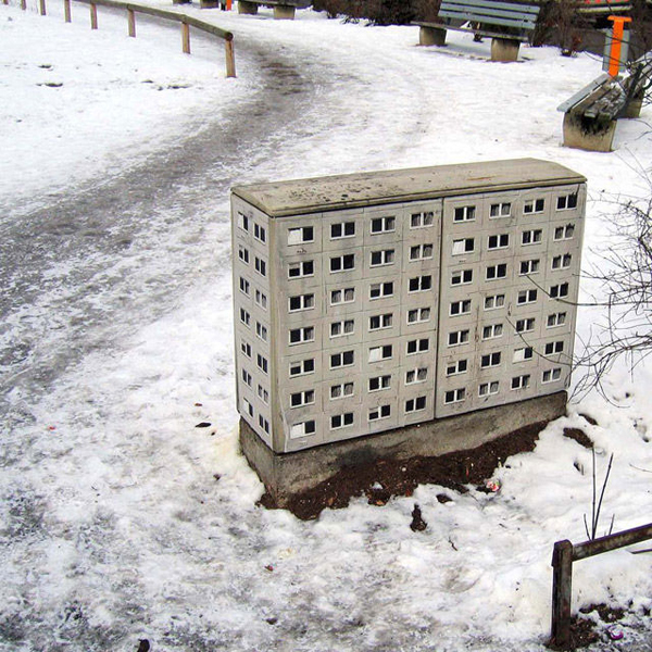 Street Art: Miniature Apartment Building