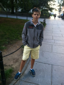 Daniel this weekend - just outside of City Hall in New York where mom and dad got married
